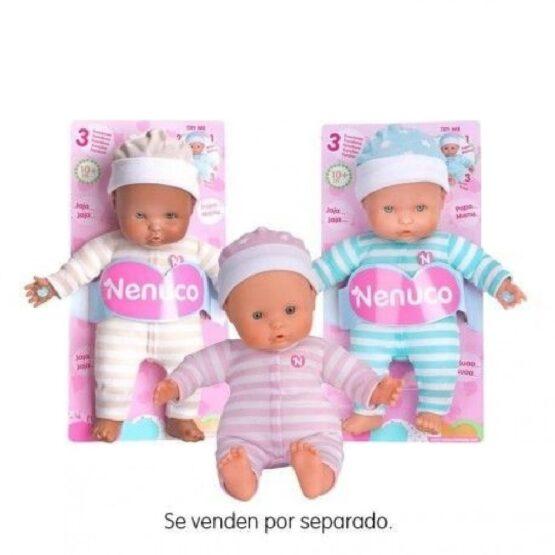 Muñeco NENUCO BLANDITO 3 FUNCIONES vestido de Rayas 1