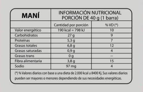 Caja 18 Unidades de Barras de Cereales FIT sin Azucar ni conservantes 6