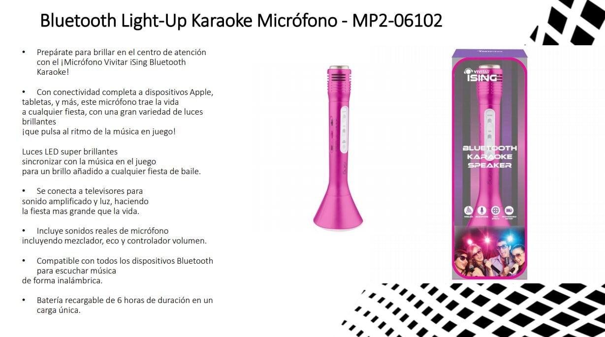 MICROFONO BLUETOOTH KARAOKE VIVITAR ISING MP2 8