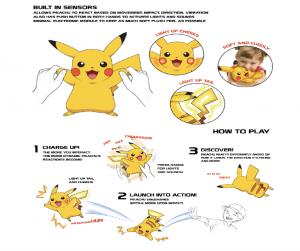 Pikachú Peluche Pokemon 25cm con luces y sonidos 9