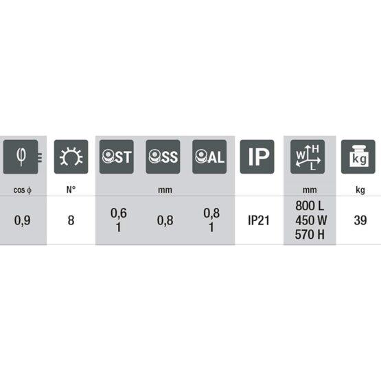 Equipo Soldar MIG 200A Telmig 195/2 Turbo 821069 Telwin 3