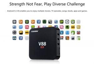 TV BOX V88 SCISHION Smart 4K Android Quad Core 45