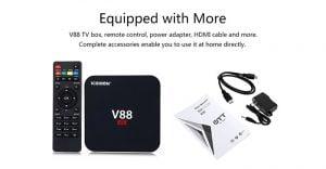 TV BOX V88 SCISHION Smart 4K Android Quad Core 21