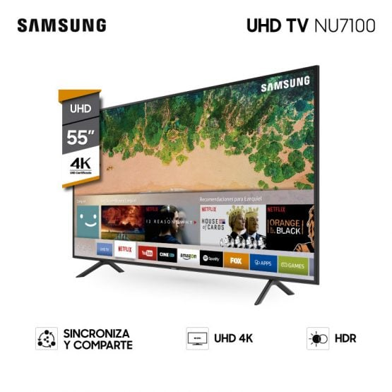 "Televisor LED SMART TV SAMSUNG 55"" UHD 4K 2"
