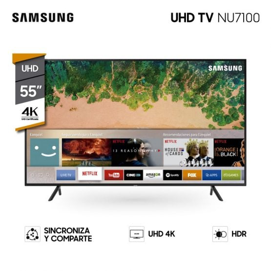 "Televisor LED SMART TV SAMSUNG 55"" UHD 4K 1"