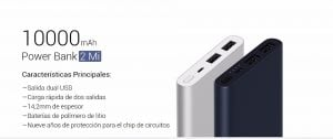 Xiaomi Mi Power Bank 10000mAh 2i carga rápida 2