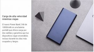 Xiaomi Mi Power Bank 10000mAh 2i carga rápida 5
