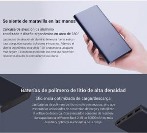 Xiaomi Mi Power Bank 10000mAh 2i carga rápida 7