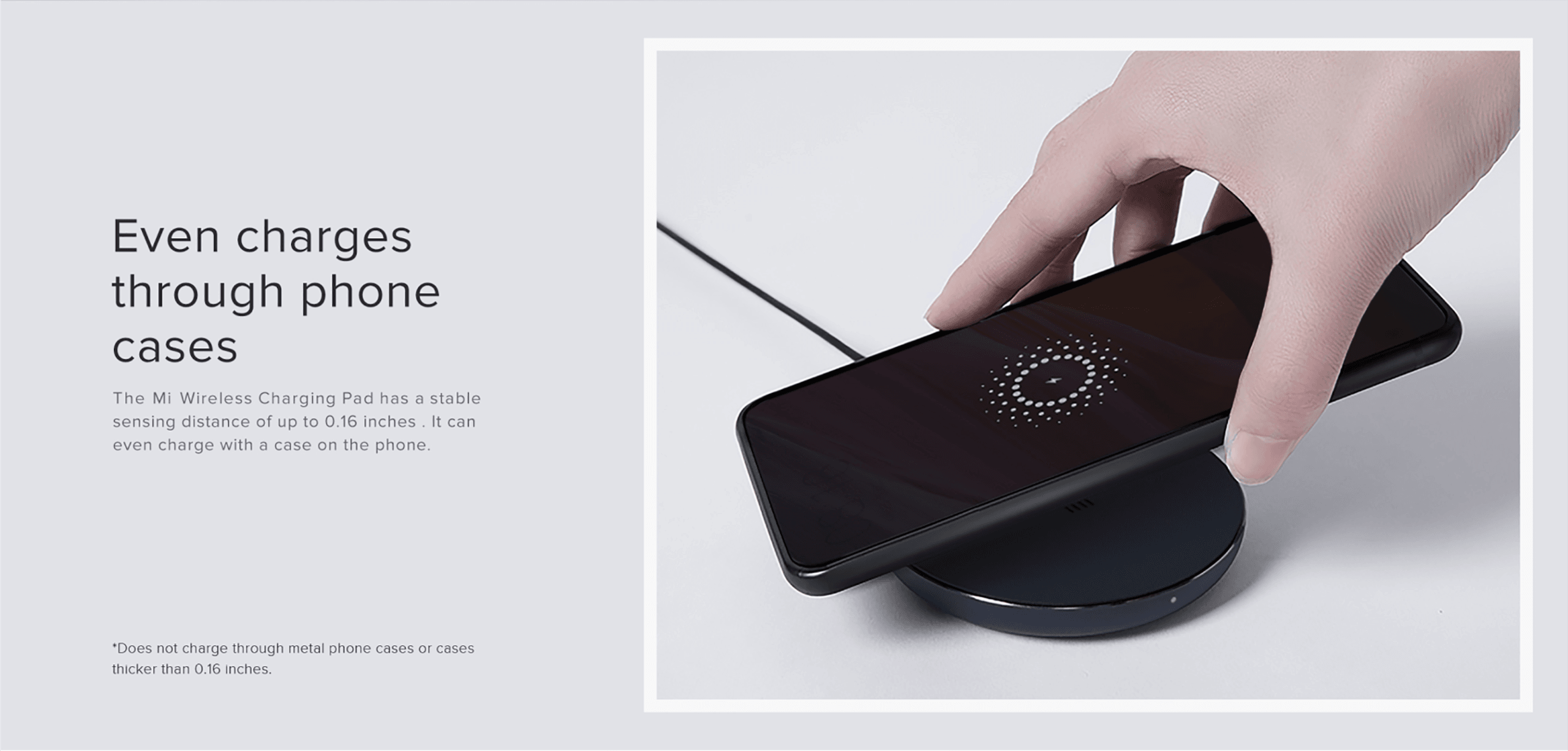 CARGADOR XIAOMI MI WIRELESS CHARGING 11