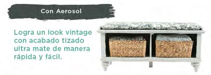 Pintura Tizada para muebles Vintage RUST-OLEUM Chalked Aerosol 11