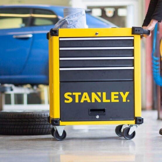 Carro de Herramientas Stanley Gabinete Rodante Métalico 4 Gavetas 1 Puerta 4