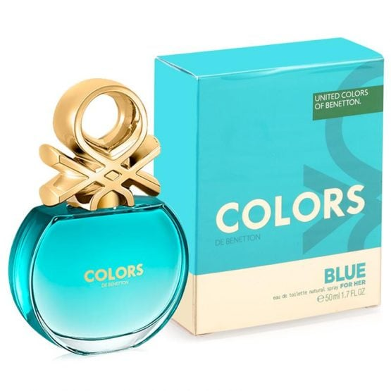 PERFUME BENETTON Colors Blue EDT FOR HER 1