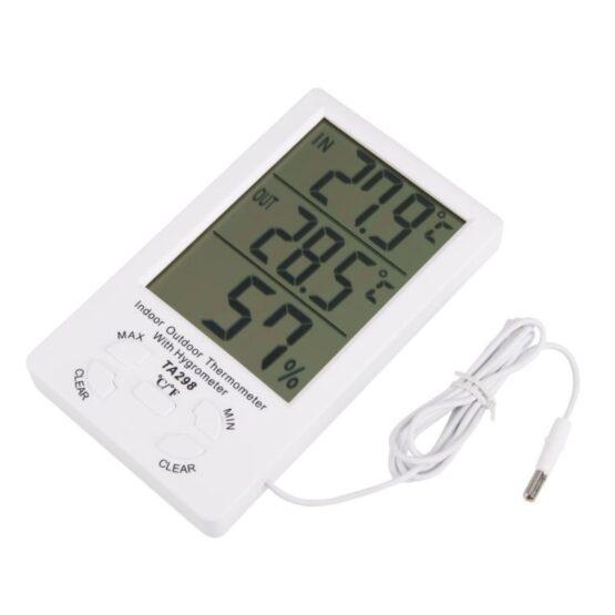 Reloj Termometro & Higrometro Digital Medidor de Humedad 2
