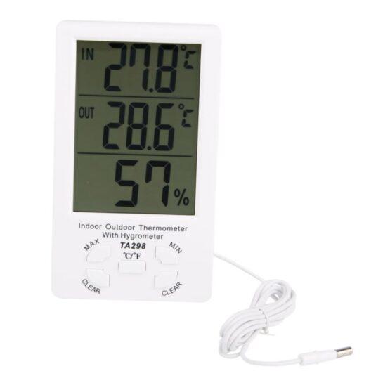 Reloj Termometro & Higrometro Digital Medidor de Humedad 1