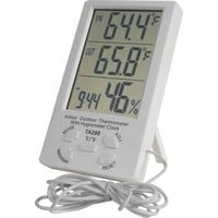 Reloj Termometro & Higrometro Digital Medidor de Humedad 4