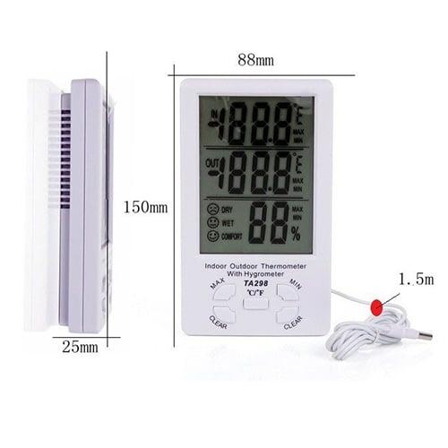 Reloj Termometro & Higrometro Digital Medidor de Humedad 11