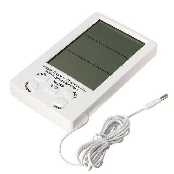 Reloj Termometro & Higrometro Digital Medidor de Humedad 3
