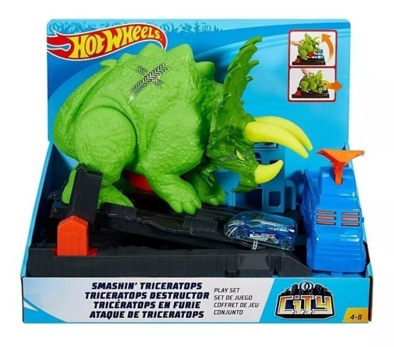 Pista Hot Wheels Triceratops Destructor 5
