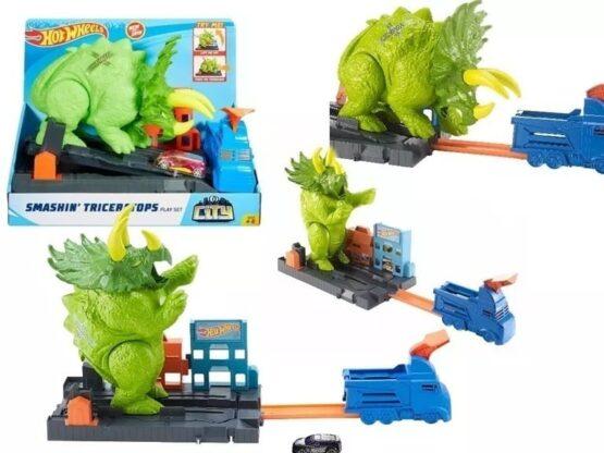 Pista Hot Wheels Triceratops Destructor 2