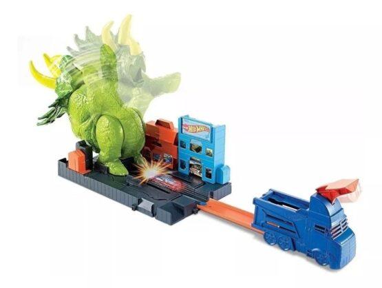 Pista Hot Wheels Triceratops Destructor 4