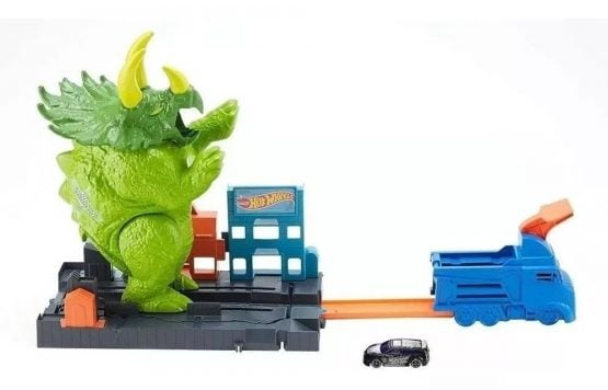 Pista Hot Wheels Triceratops Destructor 3
