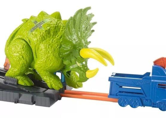 Pista Hot Wheels Triceratops Destructor 1