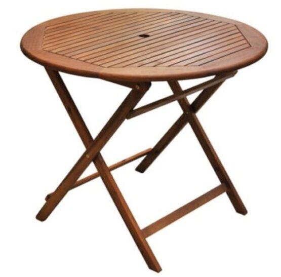 Juego de comedor Catania de madera 5 piezas natural Just Home Collection 2