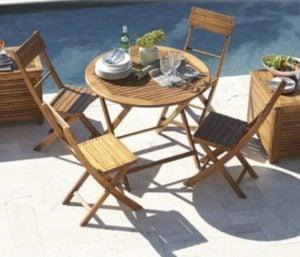 Silla Catania de madera natural Just Home Collection 4