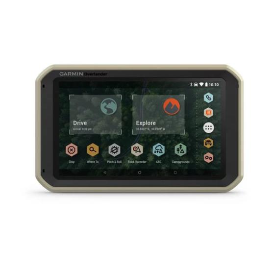 GPS Todoterreno para Autos motos y camiones Garmin Overlander™ 2