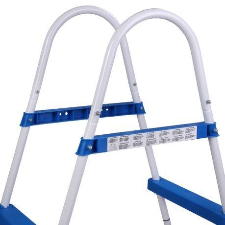 Escalera para Piscinas 73 cm Altura 2 Peldaños 2