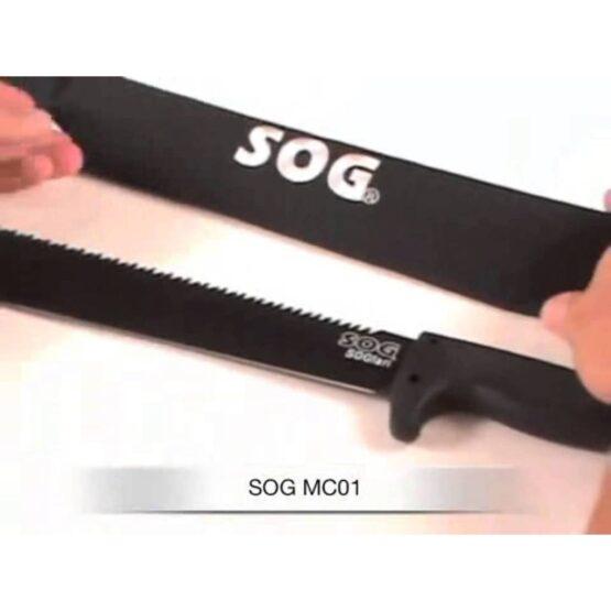 Machete SOG con Hoja en Acero 3CR13 con Vaina 2
