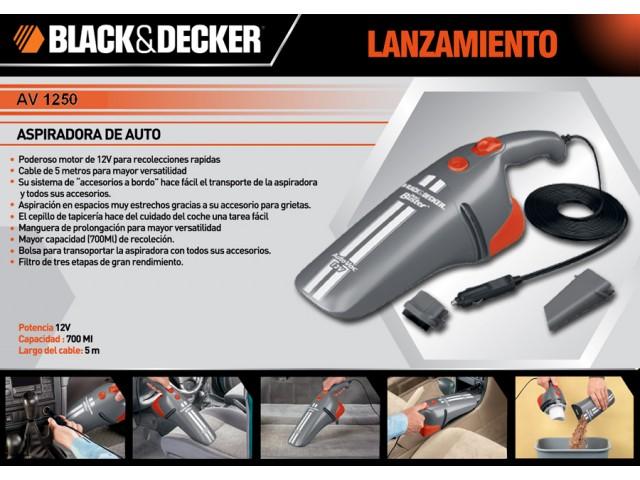 Aspiradora para Auto Black + Decker 12V 5M Cable 10