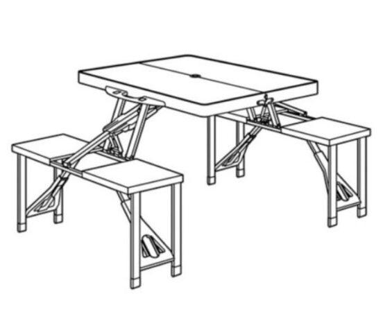 Set de Mesa con Banco Plastico Klimber 3