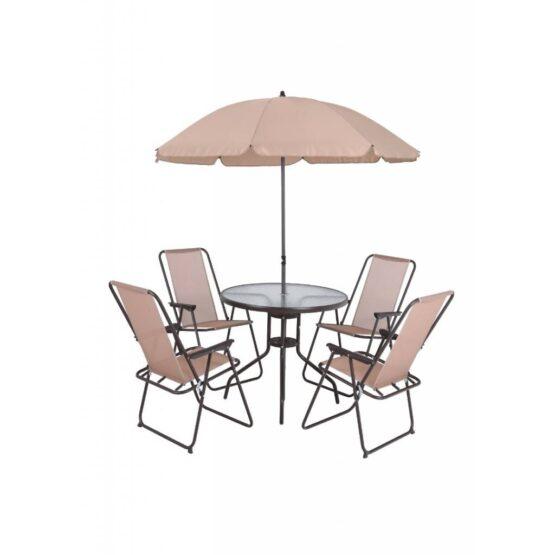 Set de Jardin Mesa con sillas y Sombrilla 1