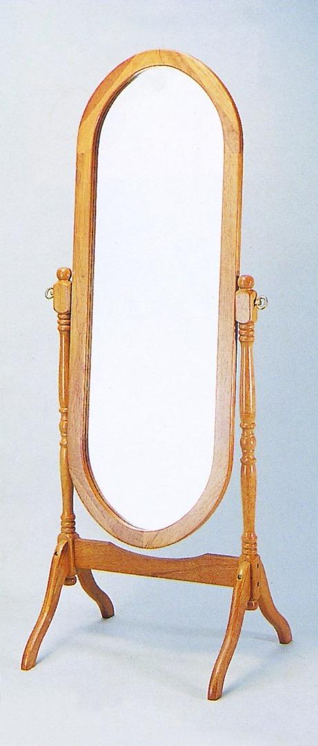 Espejo Oval Espejo marco y pie en madera 1