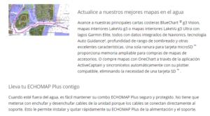"Echomap™ Plus 64cv Garmin 6"" sin Transductor 8"