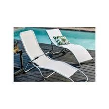Reposera Plegable Relax de Metal Blanco Just Home Collection 1