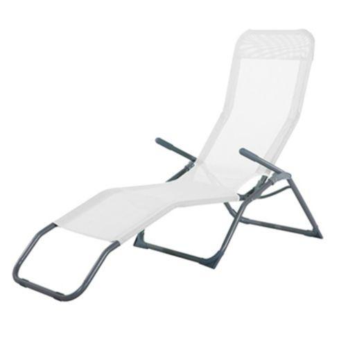 Reposera Plegable Relax de Metal Blanco Just Home Collection 2