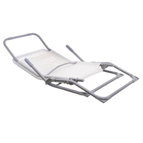 Reposera Plegable Relax de Metal Blanco Just Home Collection 3