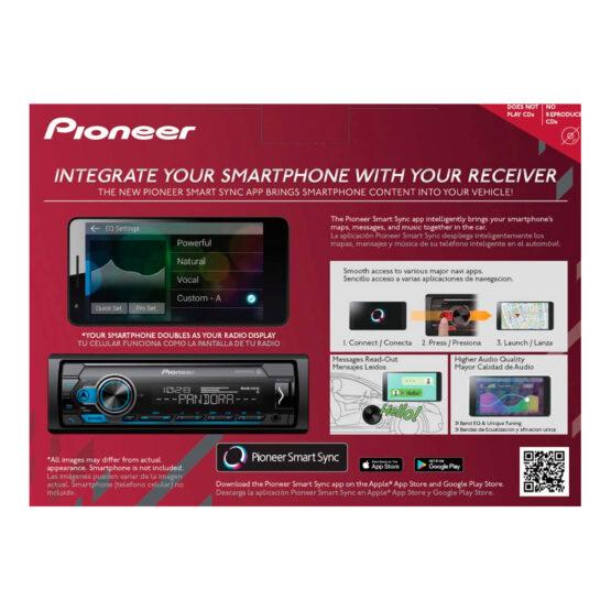 RADIO PARA AUTO + 4 PARLANTES PIONEER MXT-S3166BT 6