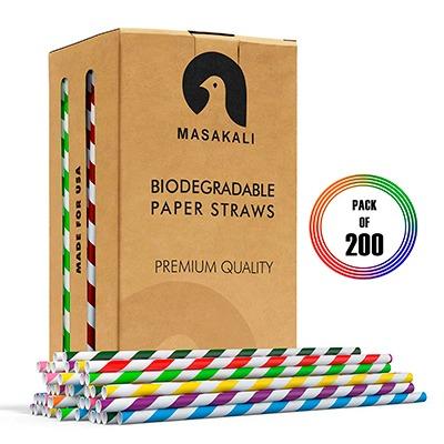 Pack 200 Unidades de Pajitas de Papel Biodegradables 1