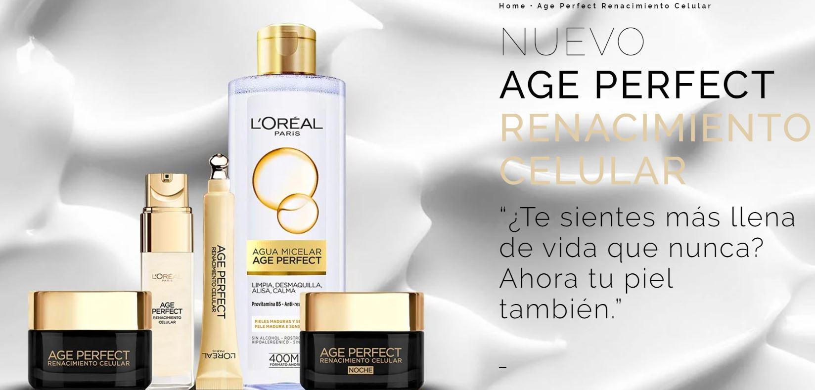Set Loreal Paris Age Perfect Renacimiento Celular (Dia + Noche + Bolsito) 4