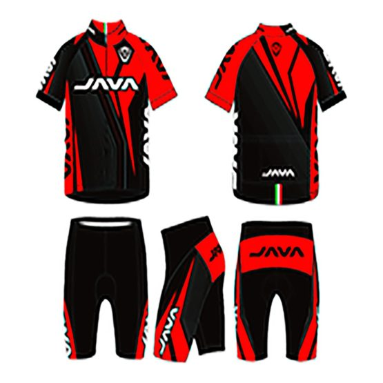 Malla Java Ciclista Jersey Pro-15 Negro/Rojo 1