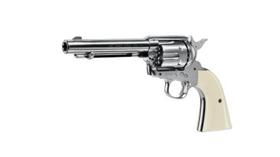 Revolver CO2 4.5mm Colt SAA .45 Plateado 2