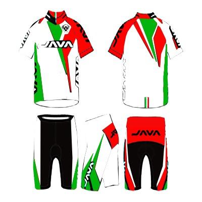 Malla Java Ciclista Jersey Pro-15 Color Blanco/Rojo/Verde 1