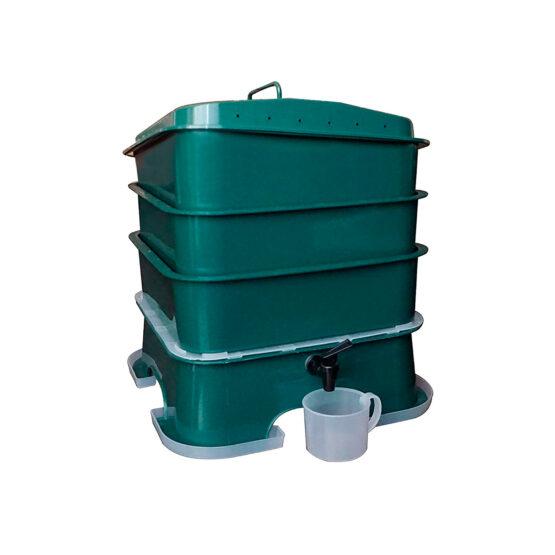 Compostera de 3 Bandejas Vermihut Plus Vermitek 1