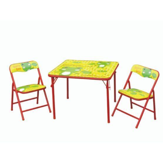 Set de Mesa y 2 Sillas Infantiles Foxi Plegables 1