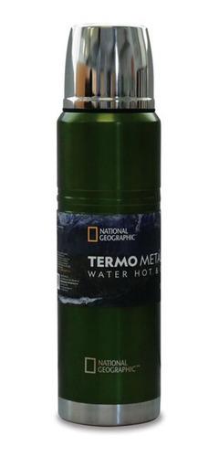 Termo Metalico National Geographic 1000 ml Frio y Caliente 2