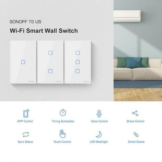 Interruptor de Pared Sonoff 1 Boton Wifi 3