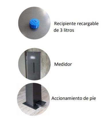 Higienizador de Manos sin Contacto Totem AS 20 3
